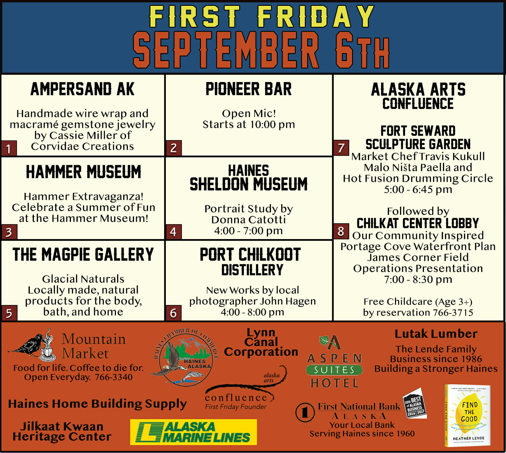 First Friday September 6, 2019
