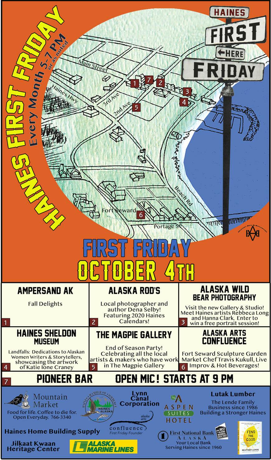First Friday Haines Alaska October 4