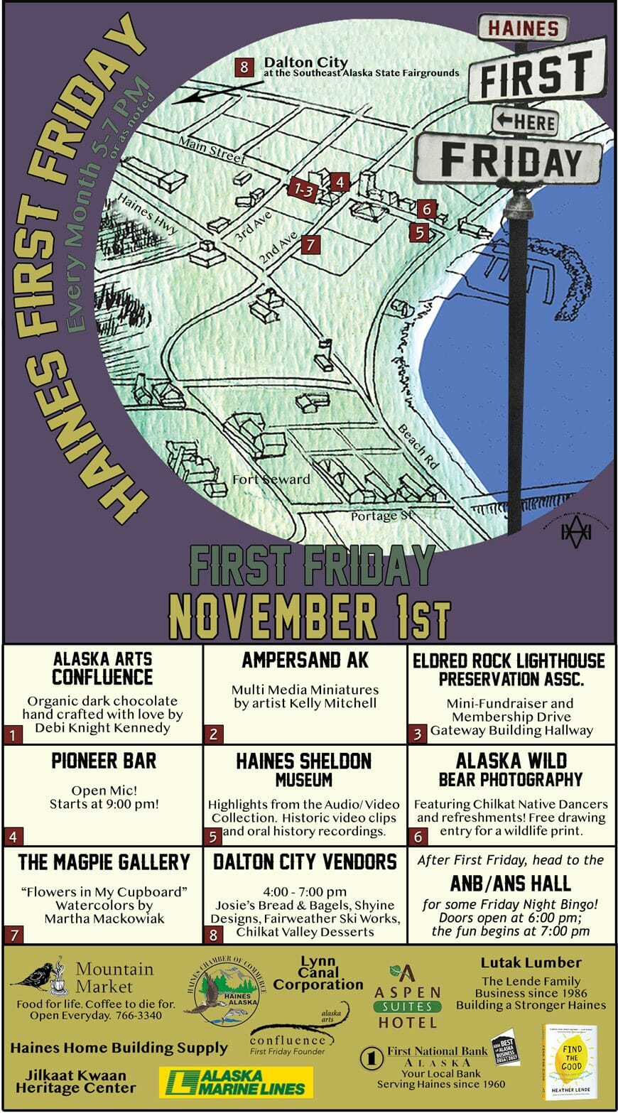 First Friday November 1 2019 Alaska Arts Confluence
